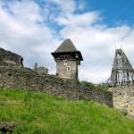 Ruins of Nevitskiy castle near Uzhgorod, Transcarpathian region, Ukraine